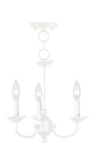 Livex Lighting 4153-03 - 3 Light White Mini Chandelier