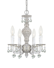 Crystorama 5224-AW-CLEAR - Crystorama Paris Market 4 Light Clear Crystal White Mini Chandelier