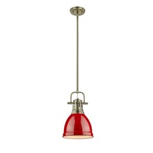 Golden 3604-S AB-RD - Small Pendant with Rod
