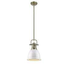 Golden 3604-S AB-WH - Small Pendant with Rod