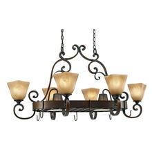 Golden 3890-PR62 GB - 8 Light Pot Rack