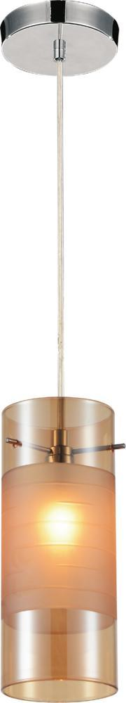 Crystal World 5658P5C (Cognac) - 1 Light Chrome Mini Chandelier from our Unico collection