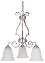 Jeremiah 7121BN3-WG - Cecilia 3 Light Down Chandelier in Brushed Satin Nickel