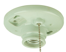 Jeremiah K858-SO - Keyless Fixtures and Access. Keyless Lamp Holder in Porcelain