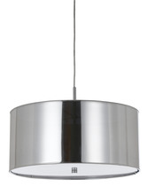 "CAL Lighting FX-3523/1P - 8.25"" Inch Tall Pendant Fixture In Chrome"