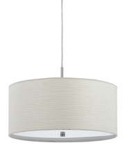 "CAL Lighting FX-3524/1P - 8.25"" Inch Tall Pendant Fixture In Casual White"
