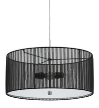 "CAL Lighting FX-3525/1P - 8.25"" Inch Tall Pendant Fixture In Black"