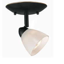"CAL Lighting SL-954-1-DB/WH - 5.25"" Inch Plug In Serpentine Fixture With Shade"