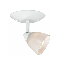 "CAL Lighting SL-954-1-WH/WH - 5.25"" Inch Plug In Serpentine Fixture With Shade"