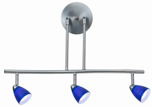 "CAL Lighting SL-954-3-BS/BL - 7.25-19.25"" Inch Adjustable Metal Serpentine Three Light Ceiling Fixture"