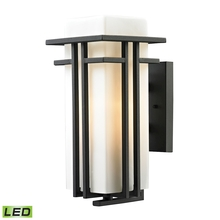 ELK Lighting 45086/1-LED - Croftwell 1 Light Outdoor LED Sconce In Textured