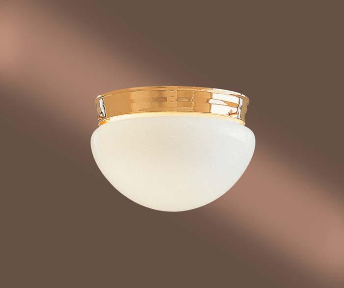 All-Lite Electric in Cleveland, Ohio, United States, Minka-Lavery DPD8, Gold Mushroom Flush Mount,