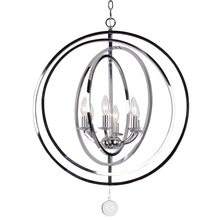 Crystorama 576-CH - Crystorama 6 Light Chrome Sphere Large Chandelier