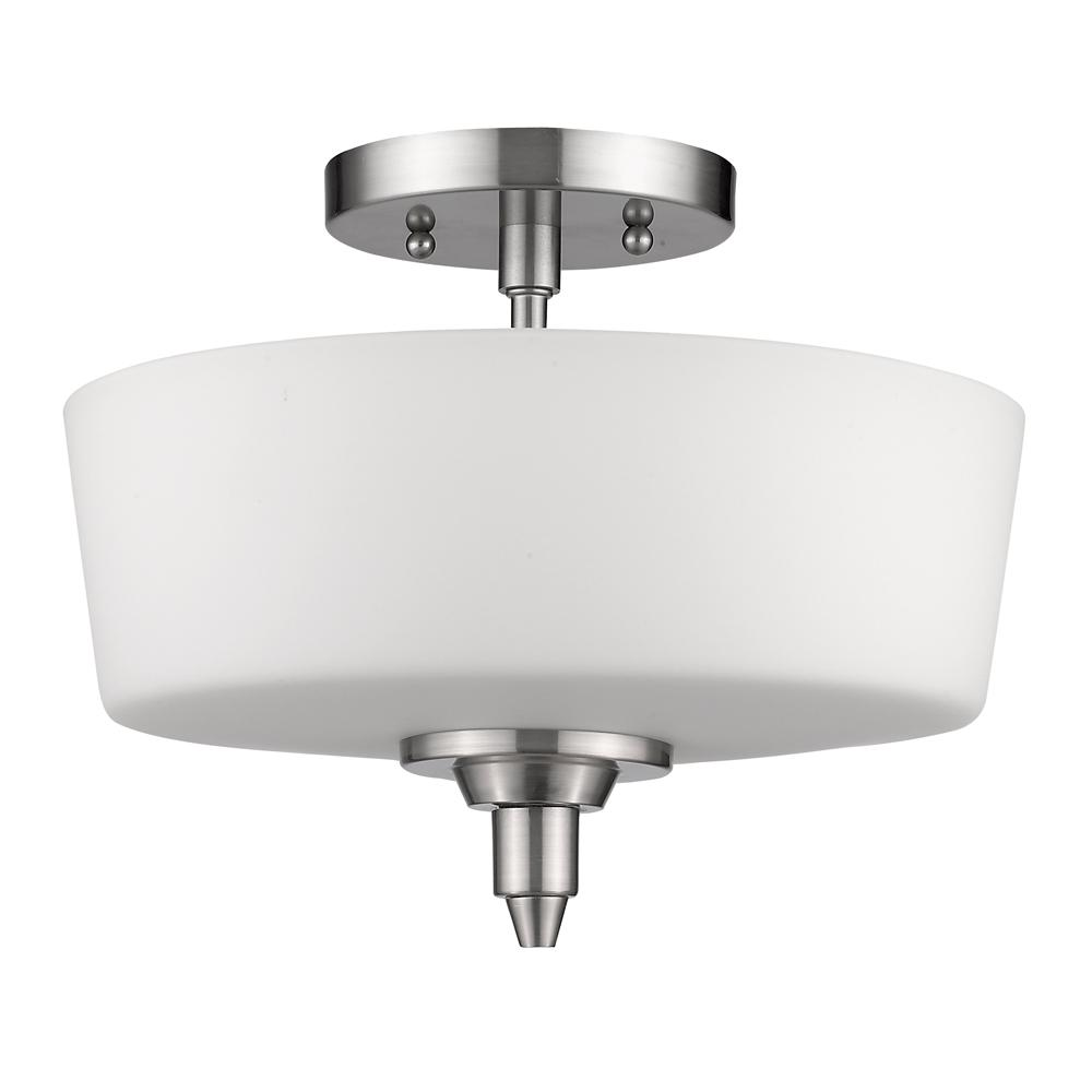 All-Lite Electric in Cleveland, Ohio, United States, Acclaim Lighting 27HRJ, Paige Indoor 2-Light Semi Flush Mount w/Glass Shade  In Satin Nickel, Paige