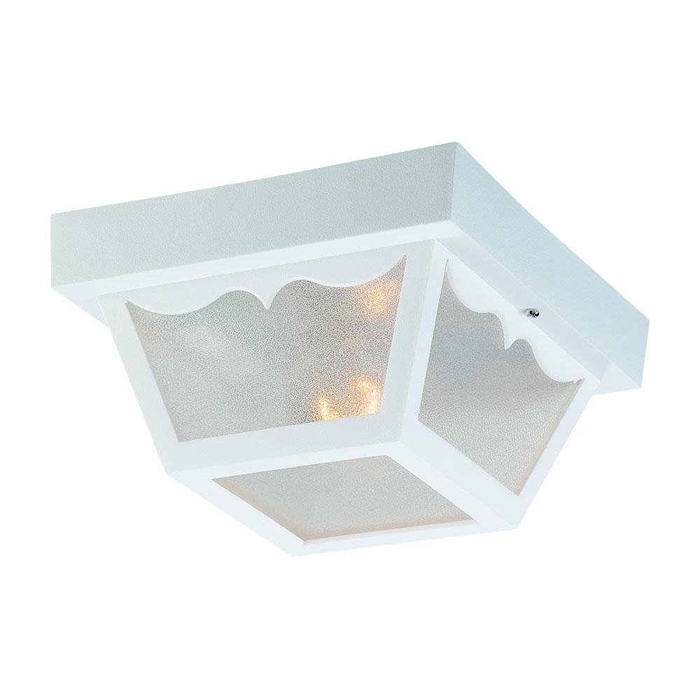 All-Lite Electric in Cleveland, Ohio, United States, Acclaim Lighting 24LZC, Builders' Choice Collection Ceiling-Mount 1-Light Outdoor White Light Fixture, Builders' Choice