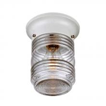 Acclaim Lighting 101WH - Builder's Choice Collection Ceiling-Mount 1-Light Outdoor White Light Fixture