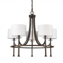 Acclaim Lighting IN11040ORB - Kara Indoor 5-Light Chandelier W/Shades & Crystal Bobeches In Oil Rubbed Bronze