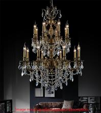 Crystal World 2039P30AB-16 - 16 Light Antique Brass Up Chandelier from our Brass collection