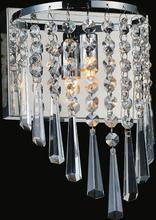 Crystal World 5564W7C-1 - 1 Light Chrome Bathroom Sconce from our Della collection