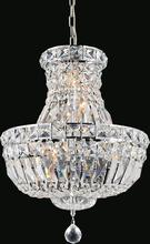 Crystal World 8003P14C - 4 Light Chrome Chandelier from our Stefania collection