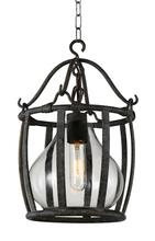 Crystal World 9925P16-1-216 - 1 Light Antique Black Down Pendant from our Imperial collection