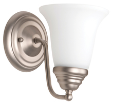 Jeremiah 15305BN1-WG - Cathryn 1 Light Wall Sconce in Brushed Satin Nickel
