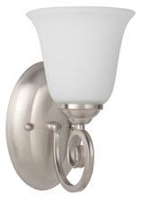 Jeremiah 7105BN1-WG - Cecilia 1 Light Wall Sconce in Brushed Satin Nickel