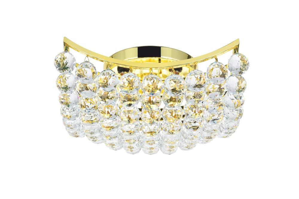 Corona 4 light Gold Flush Mount Clear Royal Cut Crystal : HCFYU